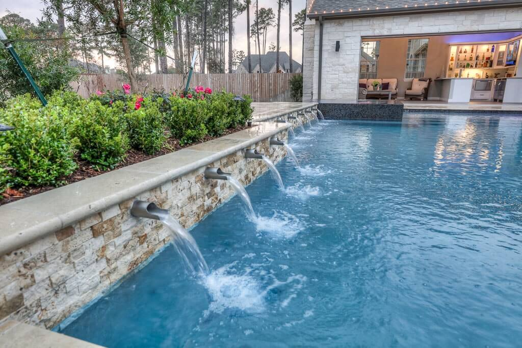Water Features | Regal Pools | The Woodlands TX
